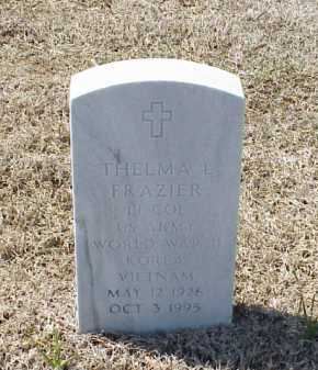 FRAZIER (VETERAN 3 WARS), THELMA L - Pulaski County, Arkansas | THELMA L FRAZIER (VETERAN 3 WARS) - Arkansas Gravestone Photos