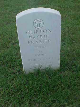 FRAZIER (VETERAN WWI), CLIFTON PATRIC - Pulaski County, Arkansas | CLIFTON PATRIC FRAZIER (VETERAN WWI) - Arkansas Gravestone Photos