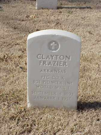 FRAZIER (VETERAN WWI), CLAYTON - Pulaski County, Arkansas | CLAYTON FRAZIER (VETERAN WWI) - Arkansas Gravestone Photos