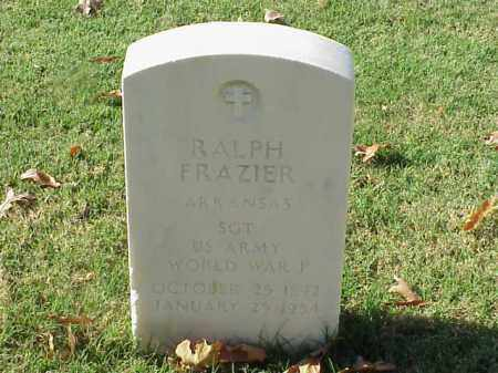 FRAZIER (VETERAN WWI), RALPH - Pulaski County, Arkansas | RALPH FRAZIER (VETERAN WWI) - Arkansas Gravestone Photos