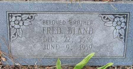 FRED, BLAND - Pulaski County, Arkansas | BLAND FRED - Arkansas Gravestone Photos