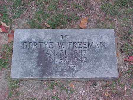 FREEMAN, GERTYE W - Pulaski County, Arkansas | GERTYE W FREEMAN - Arkansas Gravestone Photos