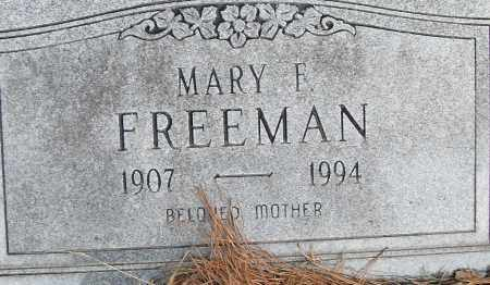 FREEMAN, MARY F - Pulaski County, Arkansas | MARY F FREEMAN - Arkansas Gravestone Photos