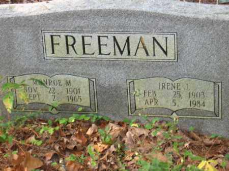 FREEMAN, MONROE M - Pulaski County, Arkansas | MONROE M FREEMAN - Arkansas Gravestone Photos