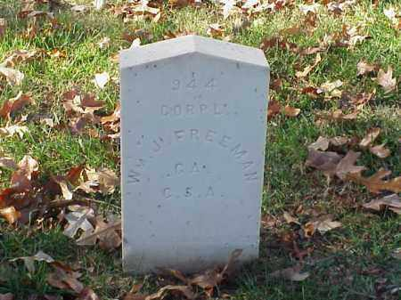 FREEMAN (VETERAN CSA), WILLIAM J - Pulaski County, Arkansas | WILLIAM J FREEMAN (VETERAN CSA) - Arkansas Gravestone Photos
