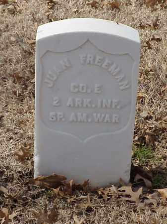 FREEMAN (VETERAN SAW), JUAN - Pulaski County, Arkansas | JUAN FREEMAN (VETERAN SAW) - Arkansas Gravestone Photos
