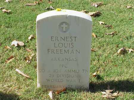 FREEMAN (VETERAN WWI), ERNEST LOUIS - Pulaski County, Arkansas | ERNEST LOUIS FREEMAN (VETERAN WWI) - Arkansas Gravestone Photos