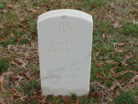 FREEMAN (VETERAN WWI), JAMES A - Pulaski County, Arkansas | JAMES A FREEMAN (VETERAN WWI) - Arkansas Gravestone Photos