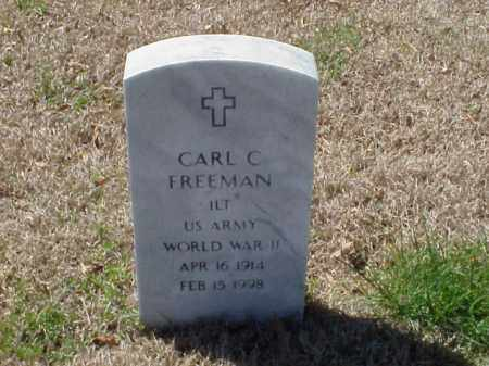 FREEMAN (VETERAN WWII), CARL C - Pulaski County, Arkansas | CARL C FREEMAN (VETERAN WWII) - Arkansas Gravestone Photos