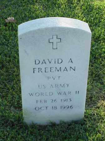 FREEMAN (VETERAN WWII), DAVID A - Pulaski County, Arkansas | DAVID A FREEMAN (VETERAN WWII) - Arkansas Gravestone Photos