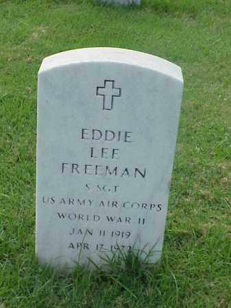 FREEMAN (VETERAN WWII), EDDIE LEE - Pulaski County, Arkansas | EDDIE LEE FREEMAN (VETERAN WWII) - Arkansas Gravestone Photos