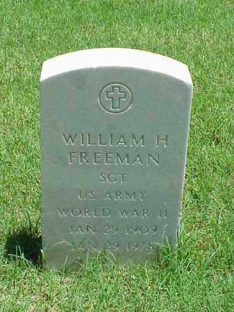 FREEMAN (VETERAN WWII), WILLIAM H - Pulaski County, Arkansas | WILLIAM H FREEMAN (VETERAN WWII) - Arkansas Gravestone Photos