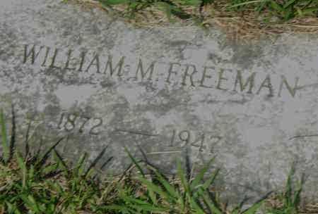 FREEMAN, WILLIAM M - Pulaski County, Arkansas | WILLIAM M FREEMAN - Arkansas Gravestone Photos