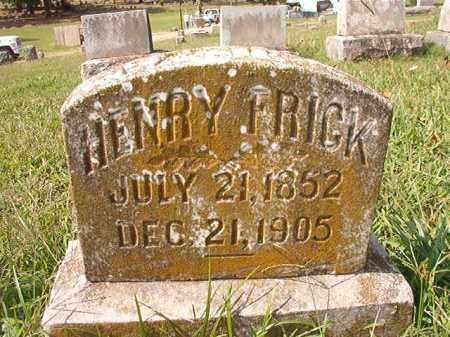 FRICK, HENRY - Pulaski County, Arkansas | HENRY FRICK - Arkansas Gravestone Photos