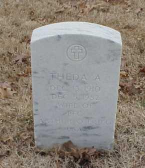 FRIEG, THEDA A - Pulaski County, Arkansas | THEDA A FRIEG - Arkansas Gravestone Photos