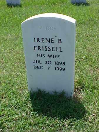 FRISSELL, IRENE B - Pulaski County, Arkansas | IRENE B FRISSELL - Arkansas Gravestone Photos