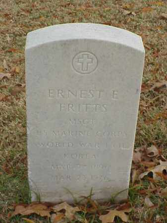 FRITTS (VETERAN 3 WARS), ERNEST E - Pulaski County, Arkansas | ERNEST E FRITTS (VETERAN 3 WARS) - Arkansas Gravestone Photos