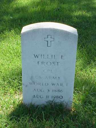 FROST (VETERAN WWI), WILLIE L - Pulaski County, Arkansas | WILLIE L FROST (VETERAN WWI) - Arkansas Gravestone Photos