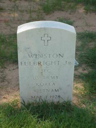 FULBRIGHT, JR (VETERAN 2 WARS), WINSTON - Pulaski County, Arkansas | WINSTON FULBRIGHT, JR (VETERAN 2 WARS) - Arkansas Gravestone Photos