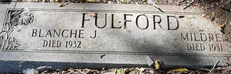 FULFORD, MILDRED J - Pulaski County, Arkansas | MILDRED J FULFORD - Arkansas Gravestone Photos