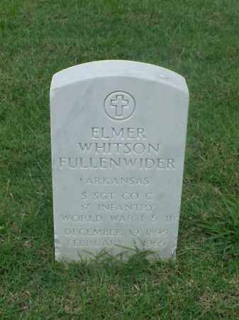 FULLENWIDDLE (VETERAN 2 WARS), ELMER WHITSON - Pulaski County, Arkansas | ELMER WHITSON FULLENWIDDLE (VETERAN 2 WARS) - Arkansas Gravestone Photos