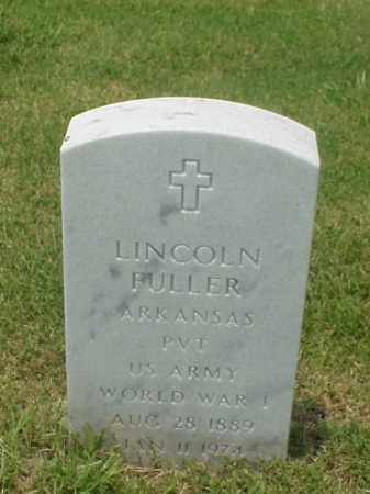 FULLER (VETERAN WWI), LICOLN - Pulaski County, Arkansas | LICOLN FULLER (VETERAN WWI) - Arkansas Gravestone Photos
