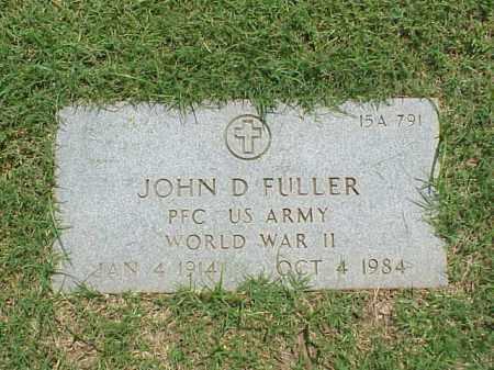 FULLER (VETERAN WWII), JOHN D - Pulaski County, Arkansas | JOHN D FULLER (VETERAN WWII) - Arkansas Gravestone Photos