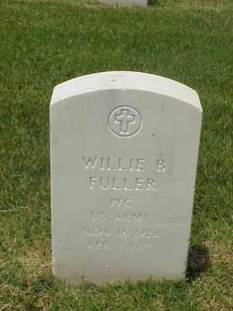FULLER (VETERAN WWII), WILLIE B - Pulaski County, Arkansas | WILLIE B FULLER (VETERAN WWII) - Arkansas Gravestone Photos