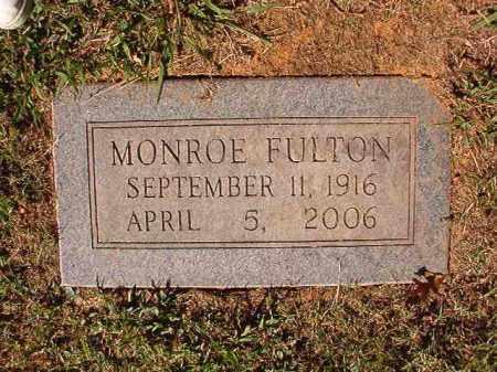 FULTON, MONROE - Pulaski County, Arkansas | MONROE FULTON - Arkansas Gravestone Photos