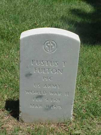 FULTON (VETERAN WWII), EUSTUS T - Pulaski County, Arkansas | EUSTUS T FULTON (VETERAN WWII) - Arkansas Gravestone Photos