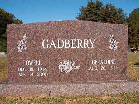 GADBERRY, LOWELL - Pulaski County, Arkansas | LOWELL GADBERRY - Arkansas Gravestone Photos