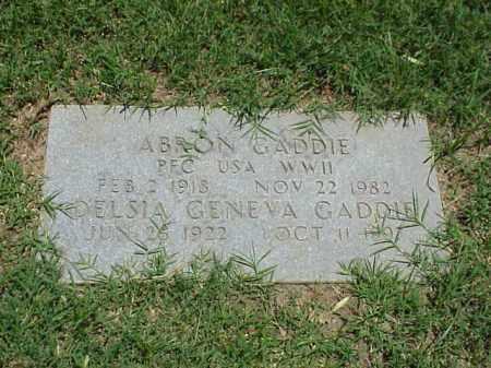 GADDIE (VETERAN WWII), ABRON - Pulaski County, Arkansas | ABRON GADDIE (VETERAN WWII) - Arkansas Gravestone Photos