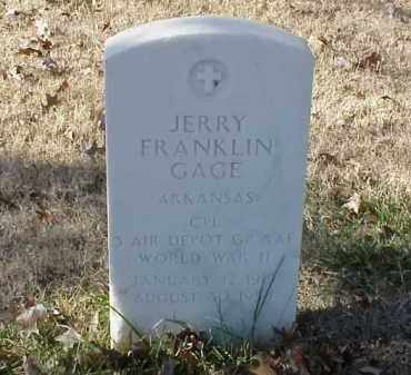 GAGE (VETERAN WWII), JERRY FRANKLIN - Pulaski County, Arkansas | JERRY FRANKLIN GAGE (VETERAN WWII) - Arkansas Gravestone Photos