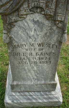 GAINES, MARY M. - Pulaski County, Arkansas | MARY M. GAINES - Arkansas Gravestone Photos