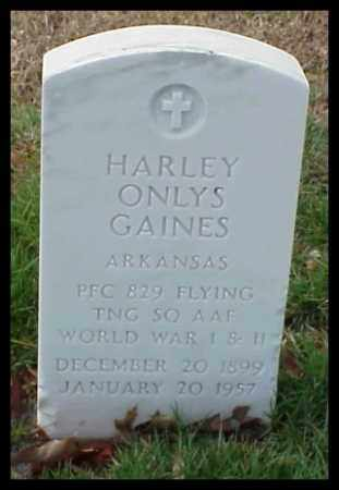 GAINES (VETERAN 2 WARS), HARLEY ONLYS - Pulaski County, Arkansas | HARLEY ONLYS GAINES (VETERAN 2 WARS) - Arkansas Gravestone Photos