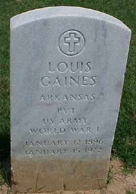 GAINES (VETERAN WWI), LOUIS - Pulaski County, Arkansas | LOUIS GAINES (VETERAN WWI) - Arkansas Gravestone Photos