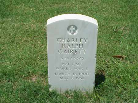 GAIRETT (VETERAN WWII), CHARLEY RALPH - Pulaski County, Arkansas | CHARLEY RALPH GAIRETT (VETERAN WWII) - Arkansas Gravestone Photos