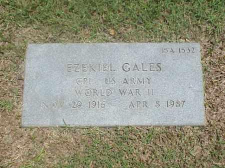 GALES (VETERAN WWII), EZEKIEL - Pulaski County, Arkansas | EZEKIEL GALES (VETERAN WWII) - Arkansas Gravestone Photos
