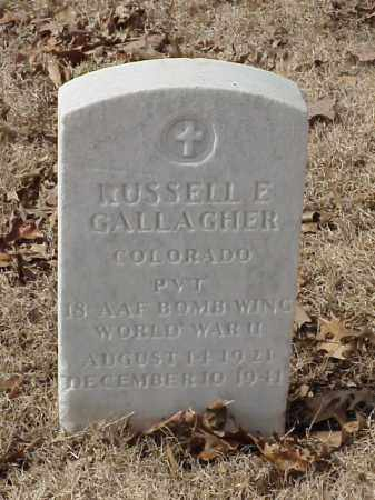 GALLAGHER (VETERAN WWII), RUSSELL E - Pulaski County, Arkansas | RUSSELL E GALLAGHER (VETERAN WWII) - Arkansas Gravestone Photos