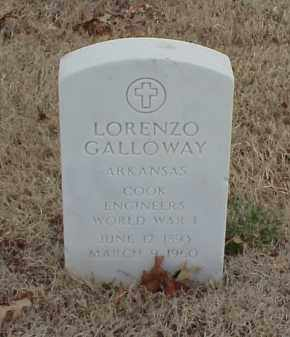 GALLOWAY  (VETERAN WWI), LORENZO - Pulaski County, Arkansas | LORENZO GALLOWAY  (VETERAN WWI) - Arkansas Gravestone Photos