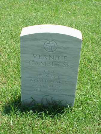 GAMBLE, SR (VETERAN WWII), VERNICE - Pulaski County, Arkansas | VERNICE GAMBLE, SR (VETERAN WWII) - Arkansas Gravestone Photos