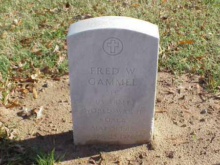 GAMMEL (VETERAN 2 WARS), FRED W - Pulaski County, Arkansas | FRED W GAMMEL (VETERAN 2 WARS) - Arkansas Gravestone Photos
