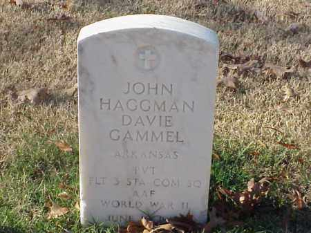 GAMMEL (VETERAN WWII), JOHN HAGGMAN DAVIE - Pulaski County, Arkansas | JOHN HAGGMAN DAVIE GAMMEL (VETERAN WWII) - Arkansas Gravestone Photos