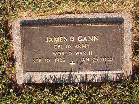 GANN (VETERAN WWII), JAMES D - Pulaski County, Arkansas | JAMES D GANN (VETERAN WWII) - Arkansas Gravestone Photos