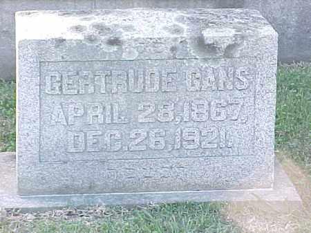 GANS, GERTRUDE - Pulaski County, Arkansas | GERTRUDE GANS - Arkansas Gravestone Photos