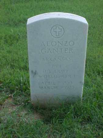 GANTER (VETERAN WWI), ALONZO - Pulaski County, Arkansas | ALONZO GANTER (VETERAN WWI) - Arkansas Gravestone Photos