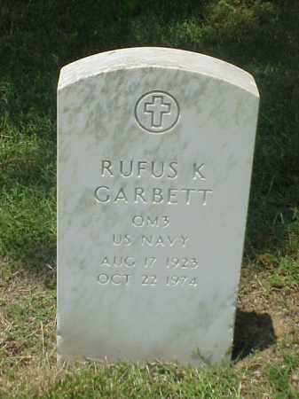 GARBETT (VETERAN WWII), RUFUS K - Pulaski County, Arkansas | RUFUS K GARBETT (VETERAN WWII) - Arkansas Gravestone Photos