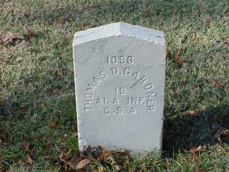 GARDNER (VETERAN CSA), THOMAS D - Pulaski County, Arkansas | THOMAS D GARDNER (VETERAN CSA) - Arkansas Gravestone Photos