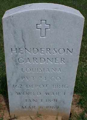 GARDNER (VETERAN WWI), HENDERSON - Pulaski County, Arkansas | HENDERSON GARDNER (VETERAN WWI) - Arkansas Gravestone Photos