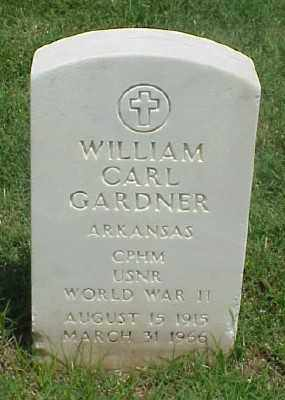 GARDNER (VETERAN WWII), WILLIAM CARL - Pulaski County, Arkansas | WILLIAM CARL GARDNER (VETERAN WWII) - Arkansas Gravestone Photos